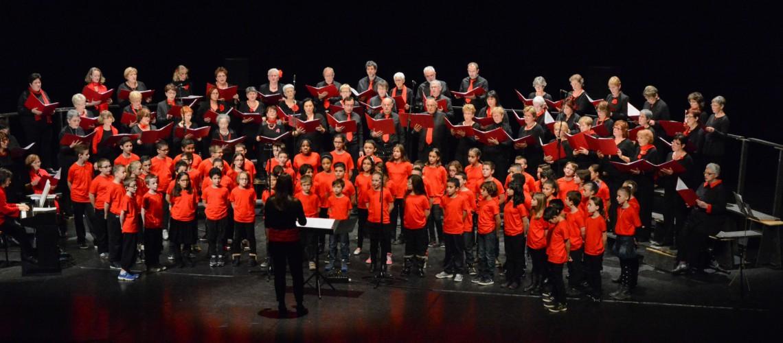 Concert de Noël avec les enfants - Décines novembre 2014