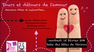 Concert Tours et détours de l'amour - Les Ateliers Chant des Ecoles de musique de Bron et Décines