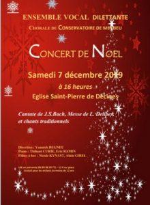 Concert de Noël avec la participation de la Chorale du Conservatoire de Meyzieu